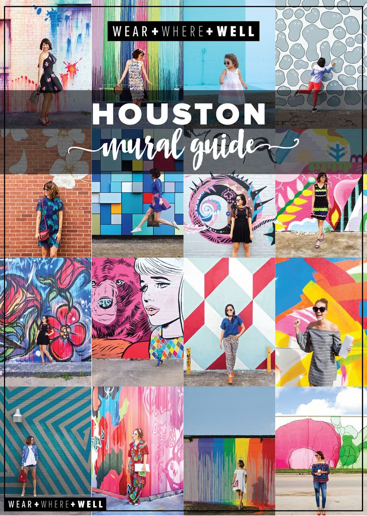 Wear Where Well Houston Mural Guide collage