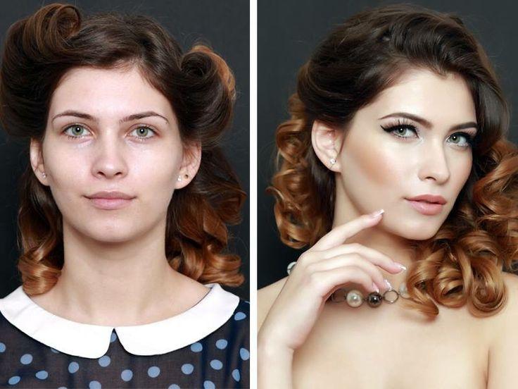 Pin-up make-up # eyeliner #pinup