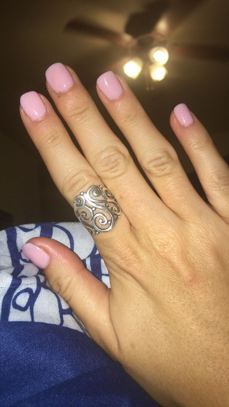 barely pink sns nails real