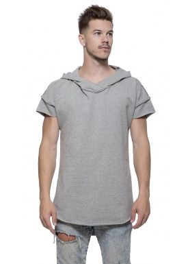 Short sleeve hoody gray
