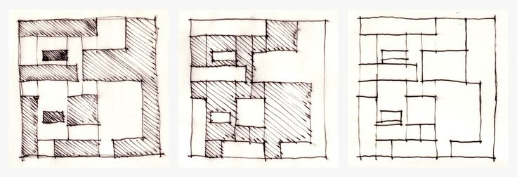 Aires Mateus_Diagrams02_House in Serra de Mire de Aire_Solid_Void01