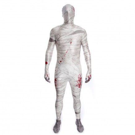 Un costume seconde peau pour Halloween. Aviez-vous déja vu une tenue de momie version Zentai ?