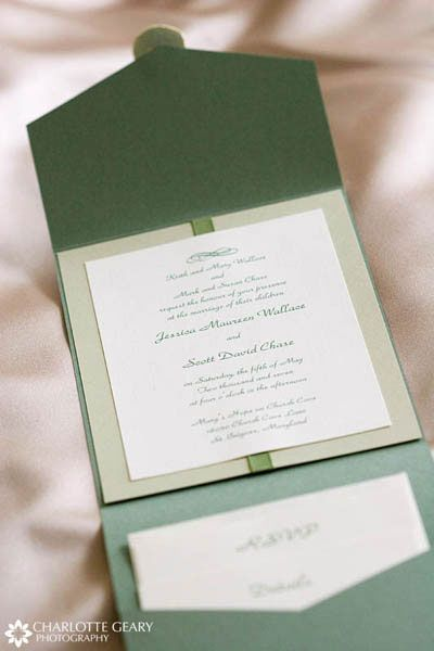 #Green wedding ... Green wedding invitation... Wedding ideas for brides, grooms, parents & planners ... https://itunes.apple.com/us/app/the-gold-wedding-planner/id498112599?ls=1=8 … plus how to organise an entire wedding, without overspending ♥ The Gold Wedding Planner iPhone App ♥