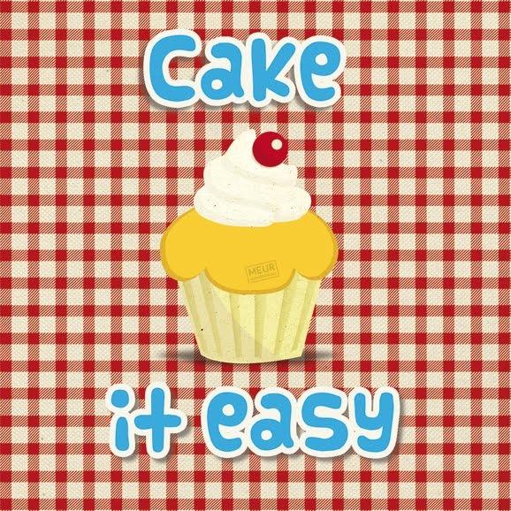 Canvasprint met naar gebak geurende cupcake!
