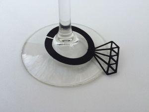 Silhouette Design Store - View Design #72666: diamond ring glass charm