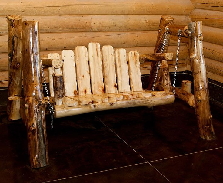 Aspen Furniture Porch Swing « The Log Builders