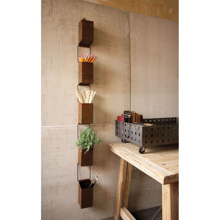Great idea for small spaces. Rain Chain Storage Boxes | dotandbo.com