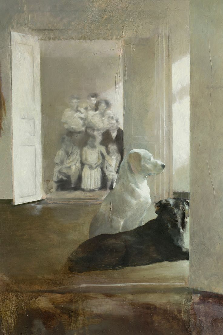 Visning (detalj) (2013), Lars Elling eggoiltempera on canvas