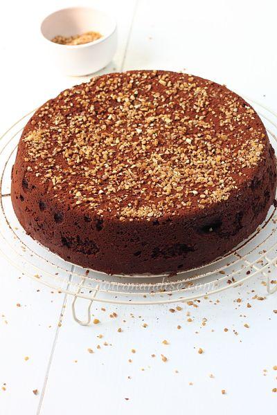 Gâteau mousseux au chocolat et aux noisettes - www.Puregourmandise.com