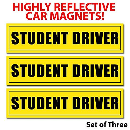 Reflective Student Driver Magnetic Car Signs(Set of 3 ) S... https://www.amazon.com/dp/B00YML13OU/ref=cm_sw_r_pi_dp_RWfKxbMS6P5JP