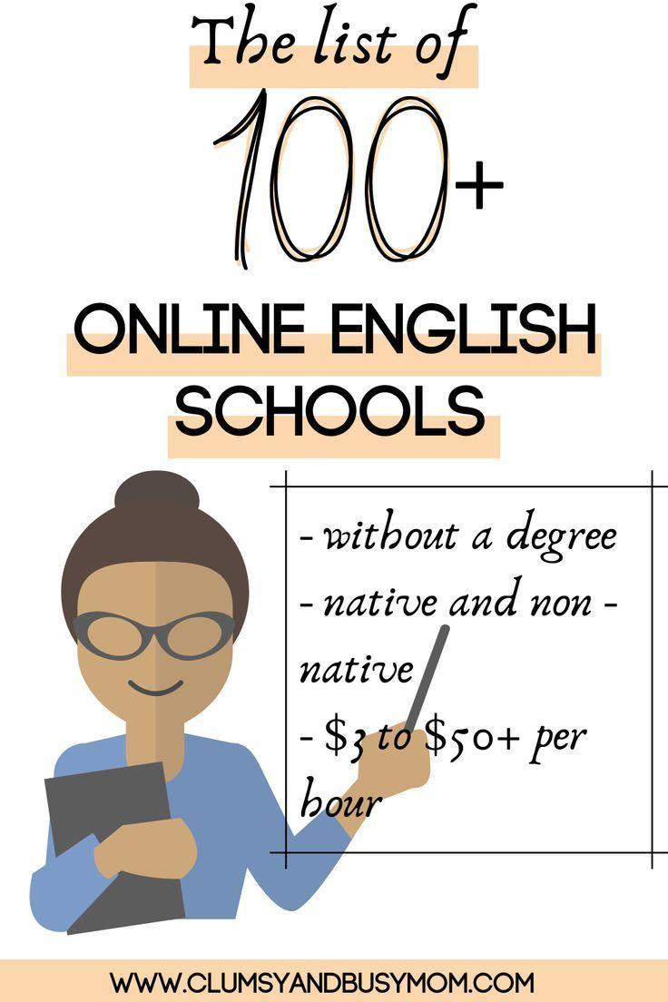 The list of 100 of online English schools hiring teachers