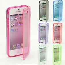 IPHONE 5 GEL CASE WITH PLASTIC FLIP COVER - PINK