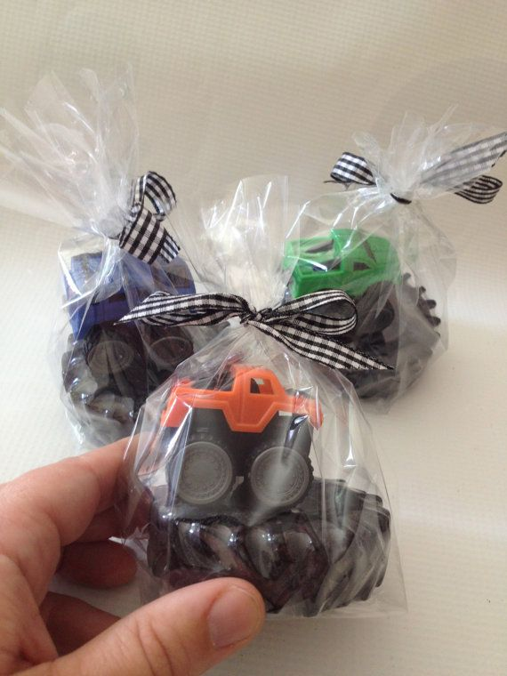 20 Tire Soaps with Cars/Monster Truck, Boy Birthday, Monster Truck Party Favors