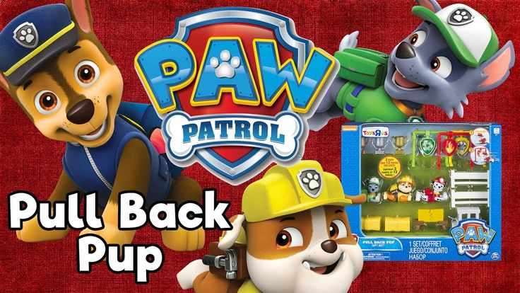 Paw Patrol Pull Back Racers Pups Gift Set Chase, Marshall & Rubble Toy U...