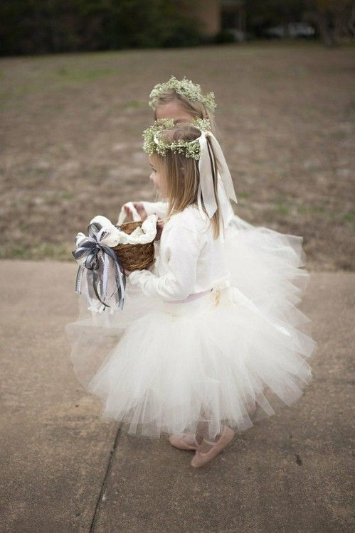 Ballerina flower girl! - Omg, so many cute ideas and I'm going to flood you with all of them, lol