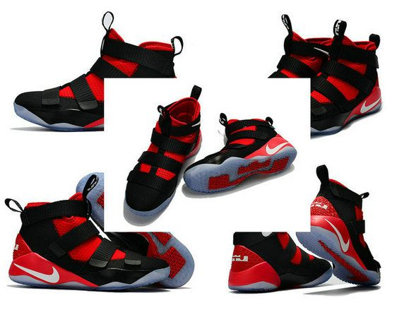 4bce663781d7 Spring Summer 2018 Newest Nike Zoom Lebron Soldier 11 XI Black University  Red White