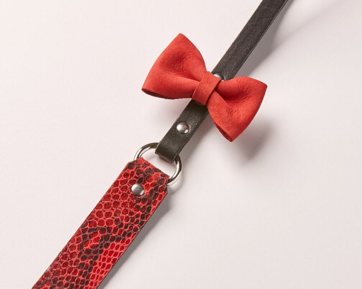 Maya Cherry - Luxury leather dog leash | Signe Louka