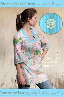 Sis Boom Shana Bell Sleeve Tunic - Downloadable Pattern