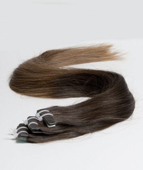 Extension adhésive tie and dye brun foncé