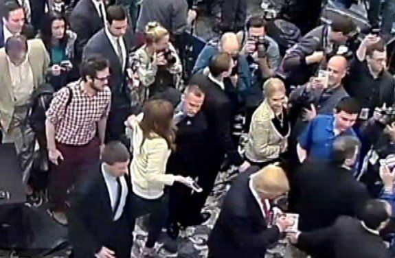 Corey Lewandowski: Donald Trump's Campaign Manager Charged with Assaulting Journalist  Read more: http://www.bellenews.com/2016/03/29/world/us-news/corey-lewandowski-donald-trumps-campaign-manager-charged-assaulting-journalist/#ixzz44JOnYFNn Follow us: @bellenews on Twitter   topdailynews on Facebook
