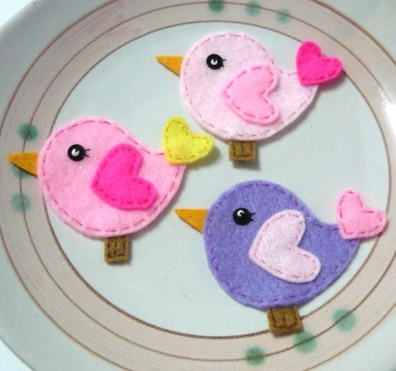 Just Christmas Crafts Felt Birds