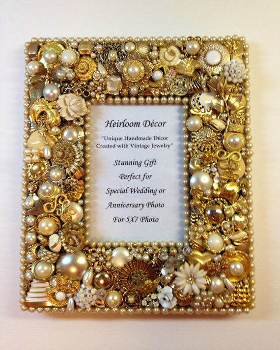 Anniversary or Wedding Frame embellished with by HeirloomDecor