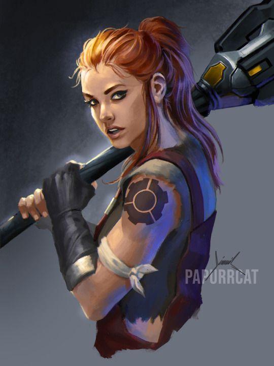 brigitte overwatch cosplay