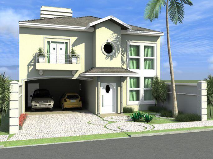 projeto sobrado clássico arquitetura clássica terreno 11x25 telhado shingle 3 suítes molduras arquiteto limeira condomínio roland