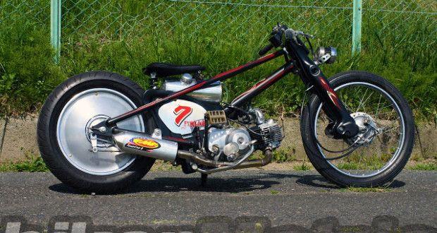 "PSYCLOOZ # Honda 90 super cub ""Molly-K"" Chopper"
