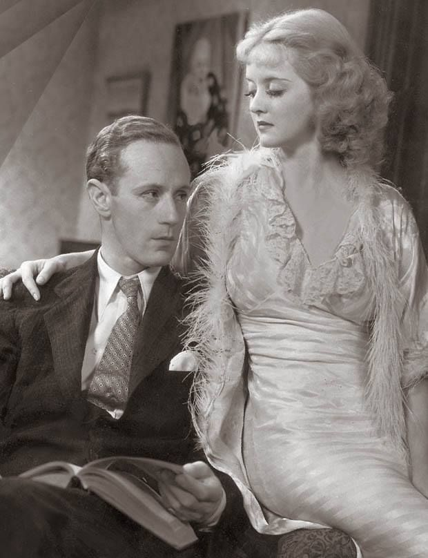 "Bette Davis with Leslie Howard in ""Of Human Bondage"", 1934."