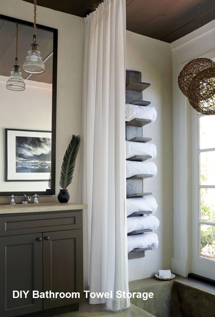 Great Diy Bathroom Towel Storage Ideas 1 Concrete Bathroom Design Diy Bathroom Design Lake House Bathroom