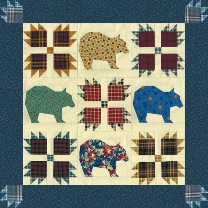 Bear Claw Quilt Pattern Printable Home 187 Bear S Paw
