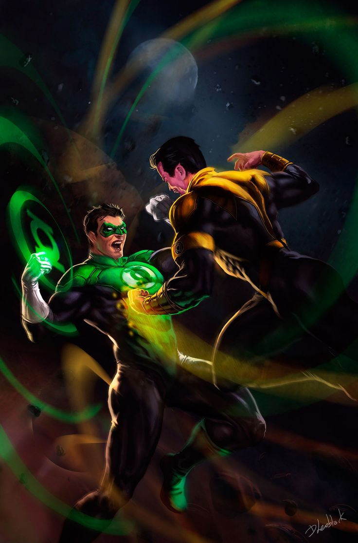 thecyberwolf:  Green Lantern vs Sinestro ___©___!!!!  Created by Dleoblack - Twitter