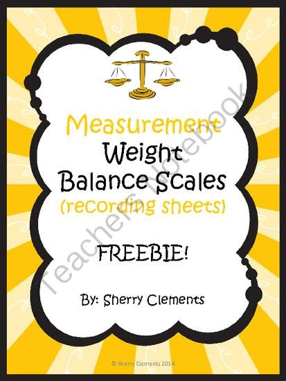 Measurement: Weight: Balance Scales (recording sheets) FREEBIE from Dr. Clements' Kindergarten on TeachersNotebook.com -  (5 pages)  - Measurement: Weight: Balance Scales (recording sheets) FREEBIE