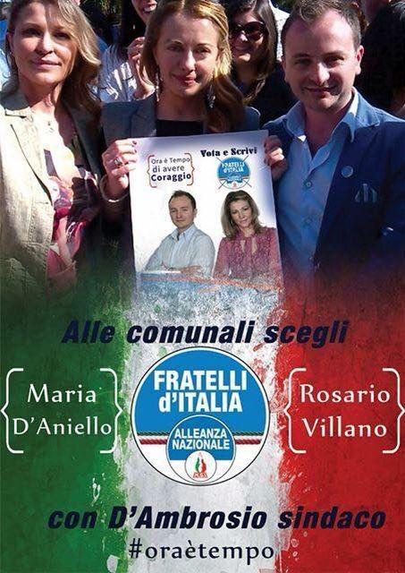 Alle comunali il 31 Maggio scegli : VILLANO - D'ANIELLO