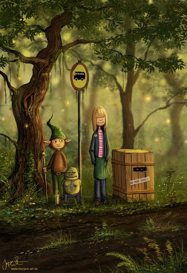 ✯ The Forest Bus Stop :: Artist Jeremiah Morelli ✯
