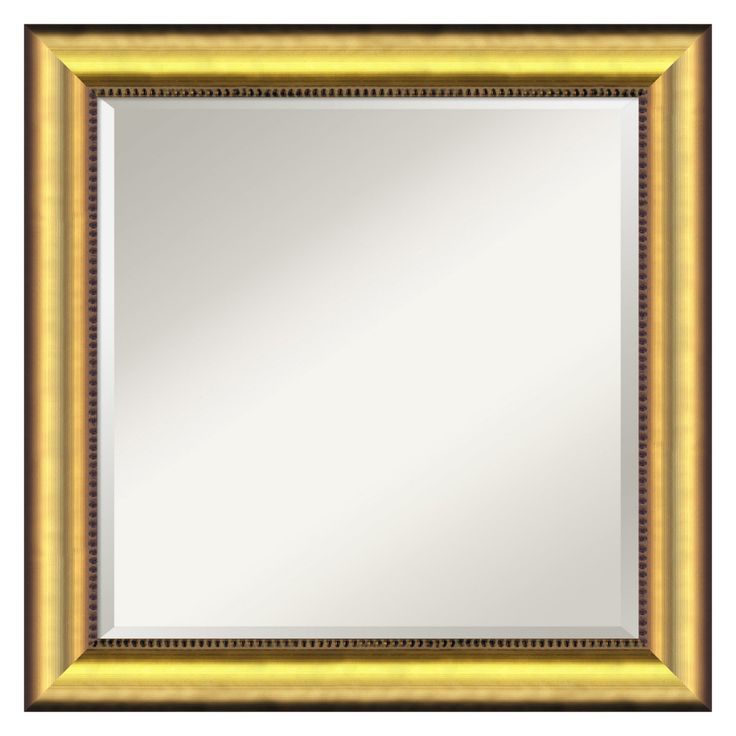 Vegas Burnished Gold Wall Mirror - DSW577322