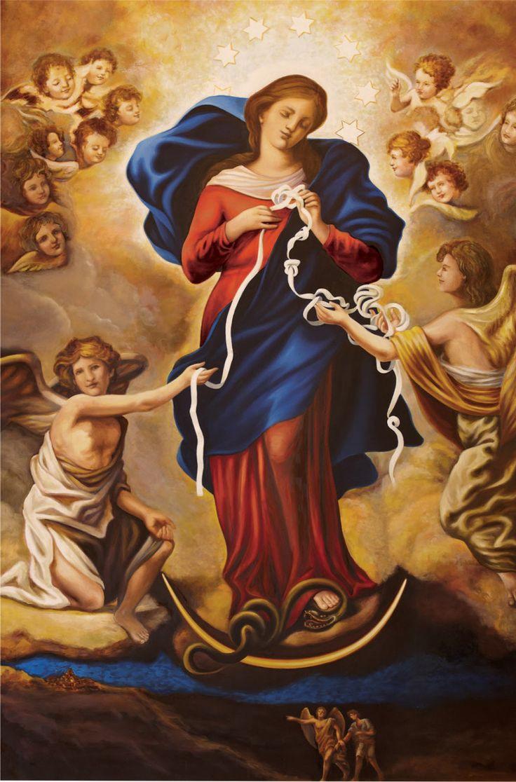 Oración a nuestra Señora Desatanudos Santa María desatadora de nudos Santa María, llena de la presencia de Dios, durante los días de tu vida aceptaste con toda humildad la voluntad del Padre, y el …