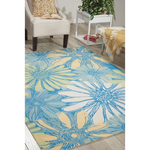 Bay Isle Home Akanthou Blue Indoor Outdoorarea Rug Size