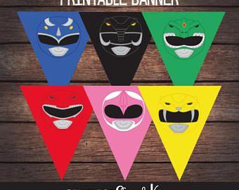 Power Ranger Birthday Banner, Power Ranger Party Banner, Power Ranger Birthday Party, PowerRanger Printable, Digital File