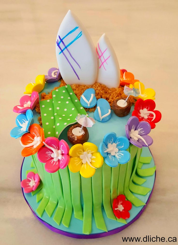 1000 Ideas About Hawaii Cake On Pinterest Luau Cakes