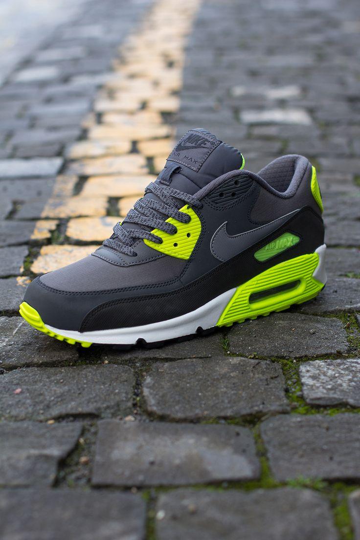 nike air max 90 gray and green