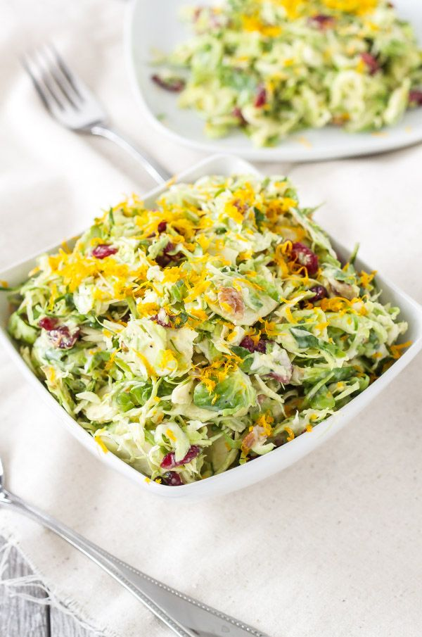 Cranberry Orange Brussels Sprout Slaw | Recipe | Butter ...
