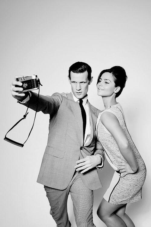 Matt Smith + Jenna Louise Coleman  I'm so sad that Matt isn't doing Doctor Who anymore :'(