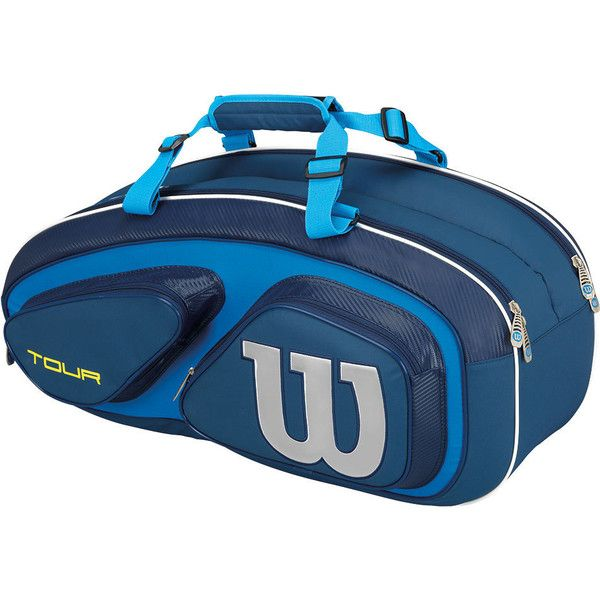 The Wilson Tour V 6 Pack Tennis Bag is a great medium sized bag with all of the excellent features you need to carry your tennis gear in. The patented Thermoguard 2.0 Technology protects equipment against extreme humidity by incorporating silica gel pellets into the construction for 226% more moisture absorption than a standard bag over a 4 hour period.