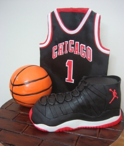 CHICAGO Basketball & Air Jordan Cake By aicakes on CakeCentral.com
