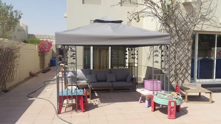 SUNSHADE MAKING.   We can make and Fitting Sunshade for outdoor.  Including 100% water proof fabric, Frame Making and Fitting Square meter 300qr.   Please call or WhatsApp message to 66065536 if you interested. #rangloo, #bar, #accessories