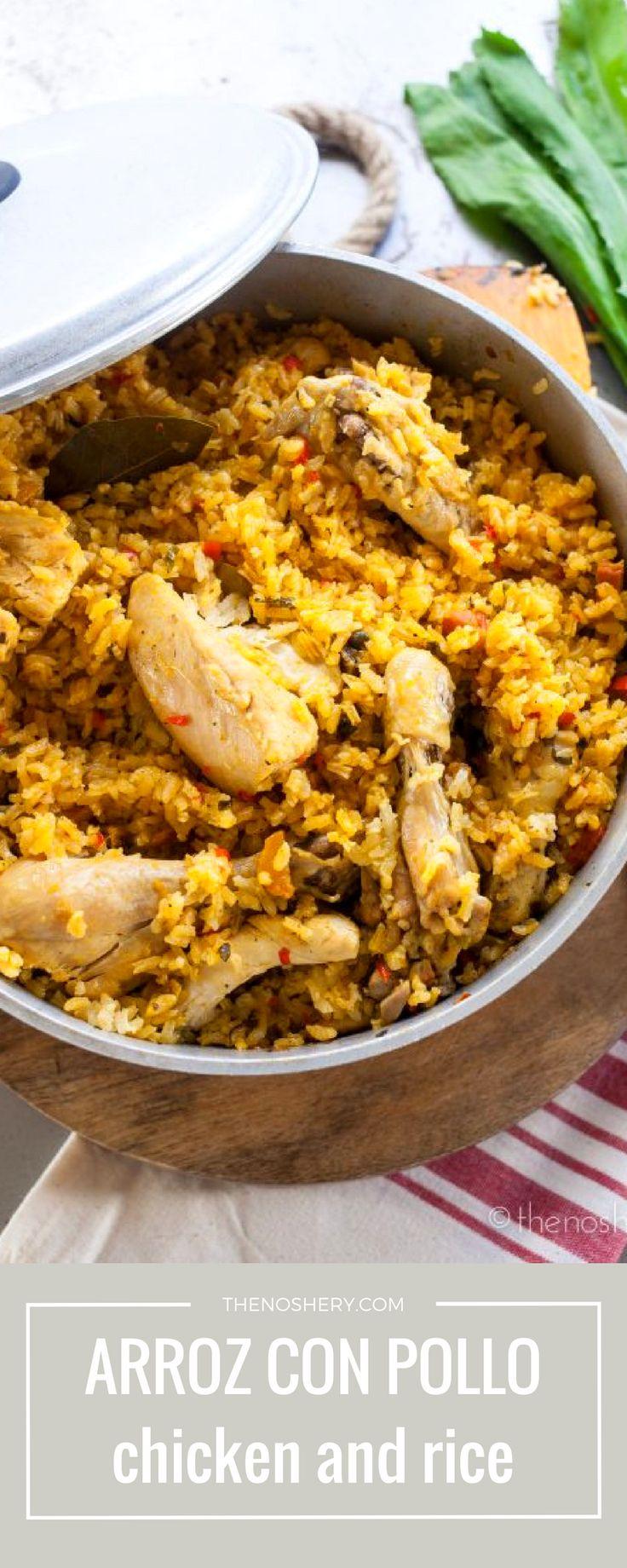 Arroz con Pollo (Chicken and Rice) | http://thenoshery.com/?utm_campaign=coschedule&utm_source=pinterest&utm_medium=The%20Noshery&utm_content=Arroz%20con%20Pollo%20%28Chicken%20and%20Rice%29