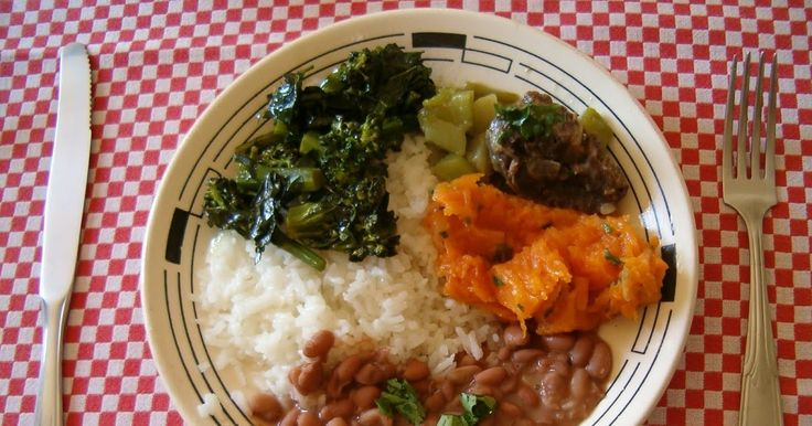 """Rice and beans are so important for Brazilian cuisine that when we say something is """" o arroz com feijão """" (the rice and beans) of ..."""