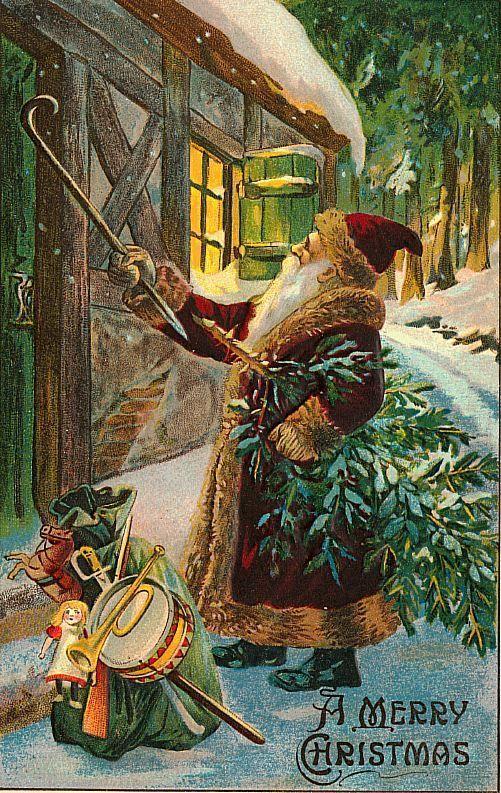 Старинные открытки с католическим рождеством